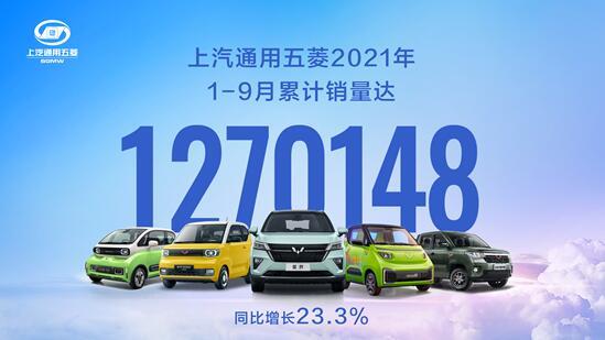中国五菱1-9月销量达1270148台!